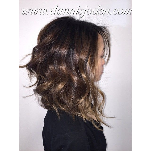 Dark brown hair color with light brown tips