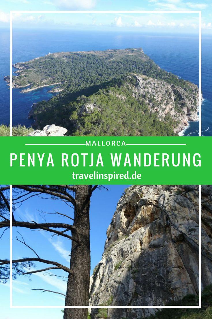 Die Wanderung zum Aussichtspunkt Penya Rotja auf der Halbinsel La Victoria auf Mallorca belohnt dich mit spektakulären Aussichten. #mallorca #wandern #penyarotja #lavictoria #wanderroute #travelinspired #outdoor #spanien #wanderung #mallorcawandern #ermita