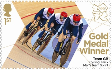 Royal Mail's 'next day' Olympic Gold Medal Stamps for Team GB continues with Sir Chris Hoy, Jason Kenny & Philip Hindes #London2012