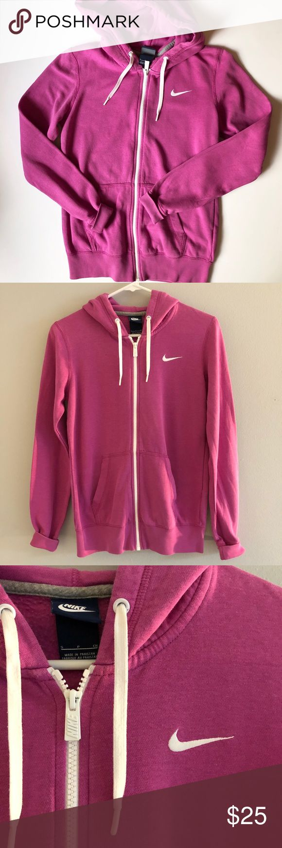 NWOT Nike Women's Zip Up Hoodie New without tag Nike Zip Up Hoodie, Color is a hot pink/Purple, Women's size Small, offers are welcome💕 Nike Tops Sweatshirts & Hoodies