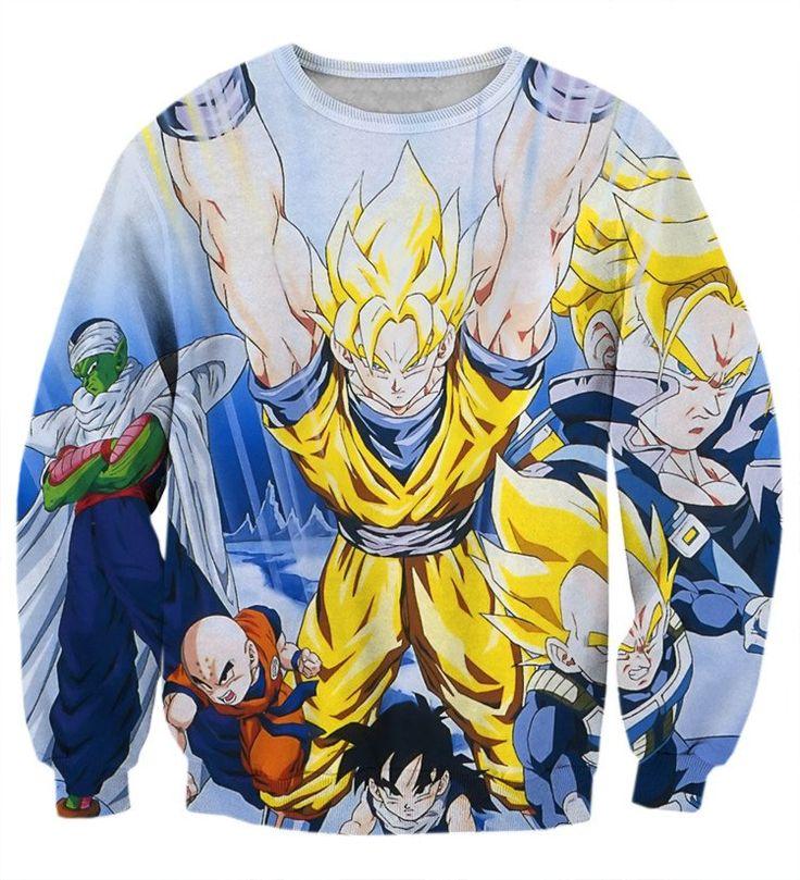 DBZ Goku Saiyan Spirit Bomb Vegeta Piccolo Gohan Trunks Vibrant Design Sweatshirt  #DBZ #Goku Saiyan Spirit Bomb #Vegeta #Piccolo #Gohan #Trunks Vibrant Design Sweatshirt
