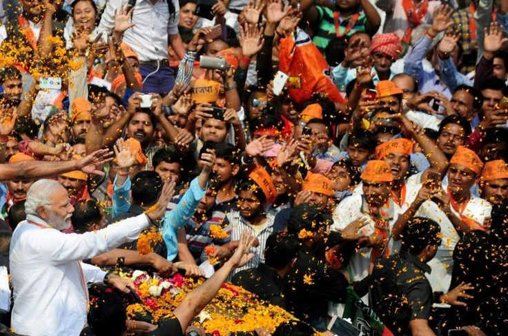 India's Prime Minister Narendra Modi looked set to tighten his grip on power Saturday with early trends from a string of state elections showing his nationalist Bharatiya Janata Party leading in the key battleground of Uttar Pradesh.Polling trends on the Election Commission of India website #As, #Awaits, #Grip, #India, #Modi, #Results, #Set, #Tighten, #To