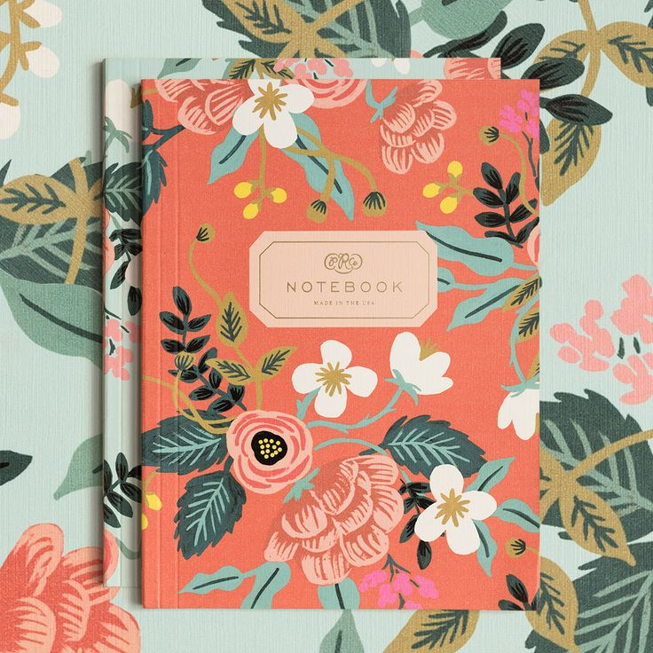 Gorgeous Rifle Paper Co. floral notebooks worthy of your thoughts and stories...