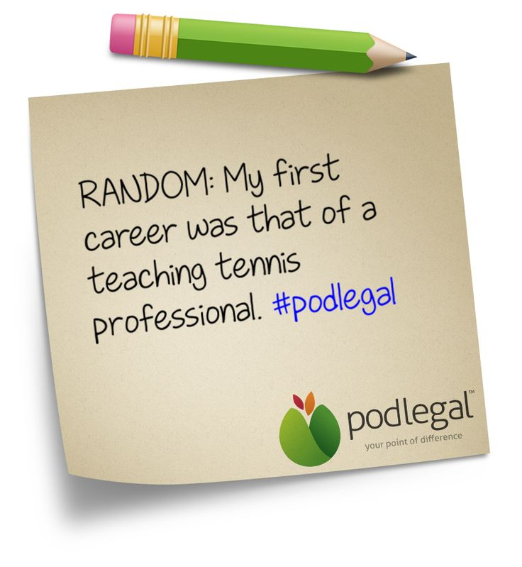 A random fact about Pod Legal Solicitor Director, Jamie White #podlegal