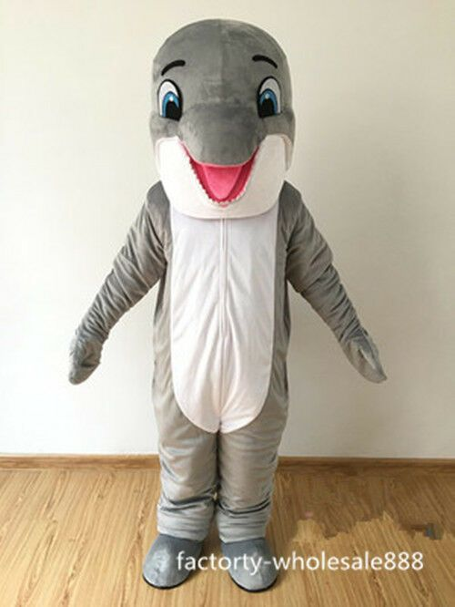 05c5e697 eBay #Sponsored Professional New Gray Dolphin Mascot Costume party ...