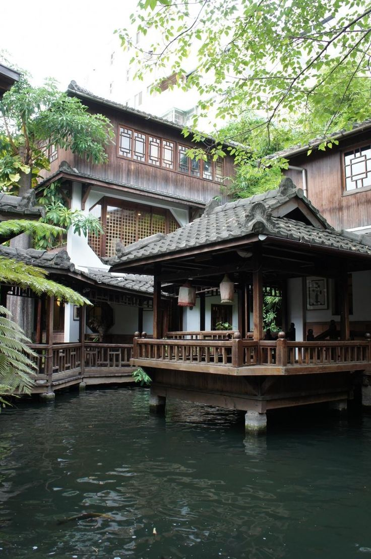 Traditional Japanese house, but on what