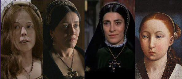 Catarina de Aragão interpretada por Annetie Crosbie, Maria Doyle Kennedy e Irene Papas, que   verdadeira face de Catarina de Aragão   Tudor Brasil