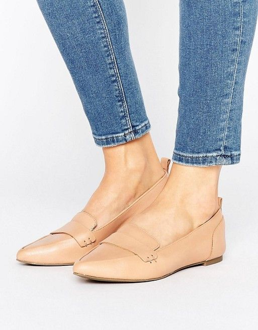 Shop ALDO Cherryhill Leather Flat Shoes at ASOS.