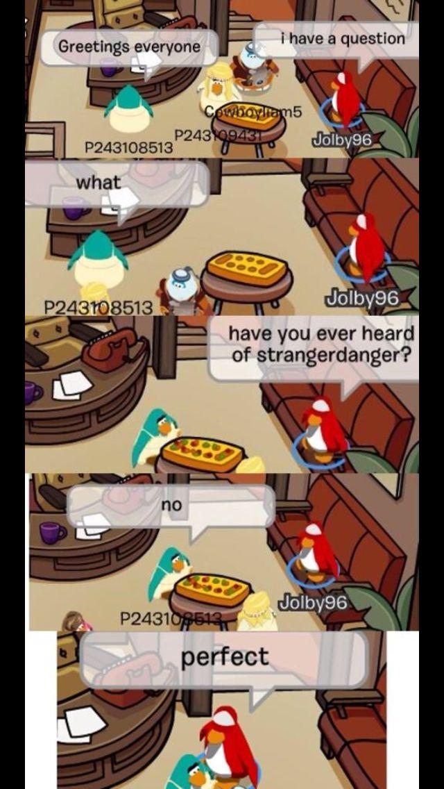 Funny club penguin bans