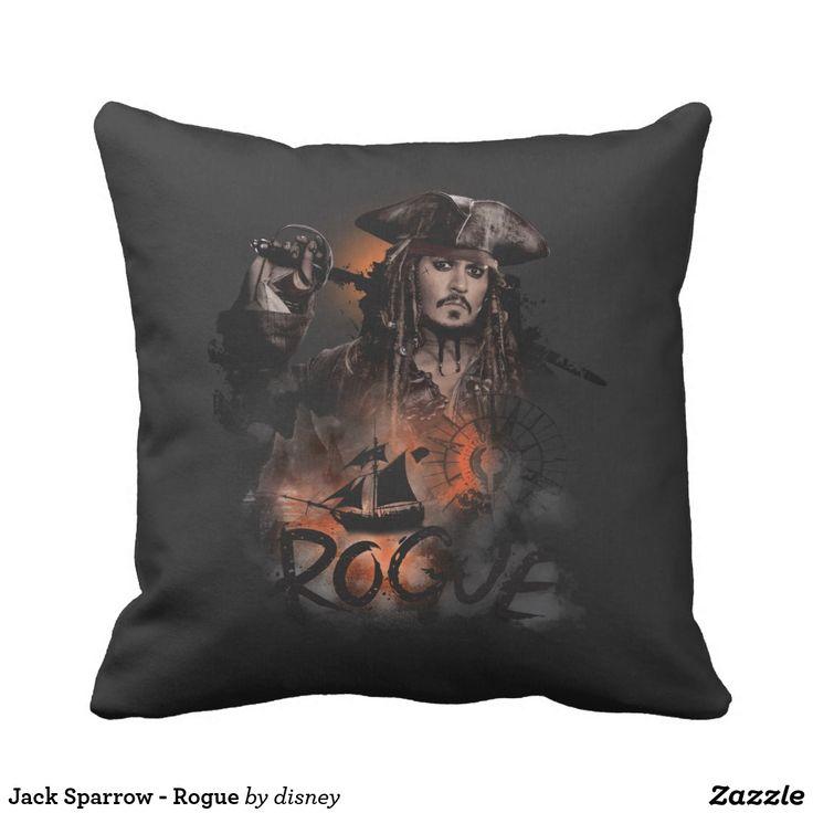 Jack Sparrow - Rogue. Producto disponible en tienda Zazzle. Decoración para el hogar. Product available in Zazzle store. Home decoration. Regalos, Gifts. #cojín #pillows