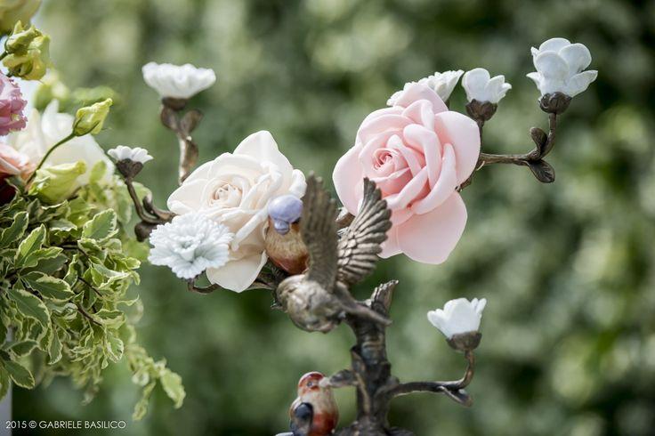 Silk flowers for a wedding at Punta Ala
