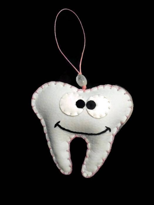 Tooth Fairy Cushion  Tooth Pillow  Tooth Ornament  Tooth