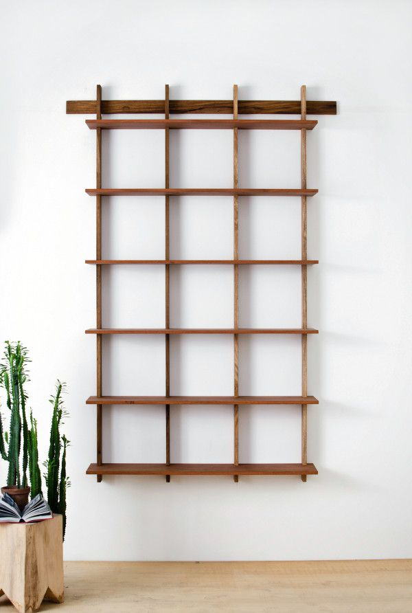 Minimalist design wall shelves for books