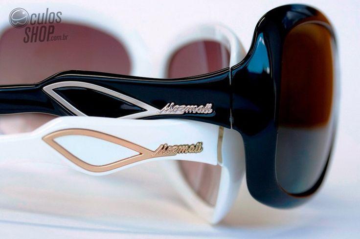 Detalhes das hastes do óculos Marbella da Mormaii. 8) #óculos #mormaii #eyewear #sunglasses #style #retro #fashion #moda #estilo #design #marbella #feminino #girl
