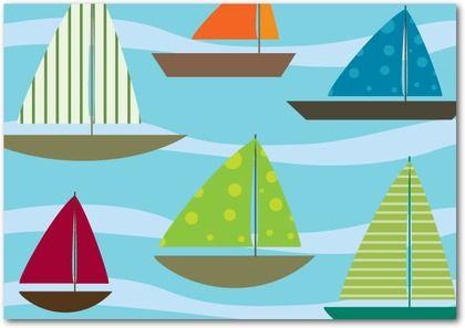 Snappy Sailboats Greeting Cards