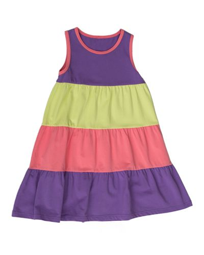 Ferris Wheel Dress | Colour-blocked dress for girls. | www.peekaboobeans.com/chantalcp