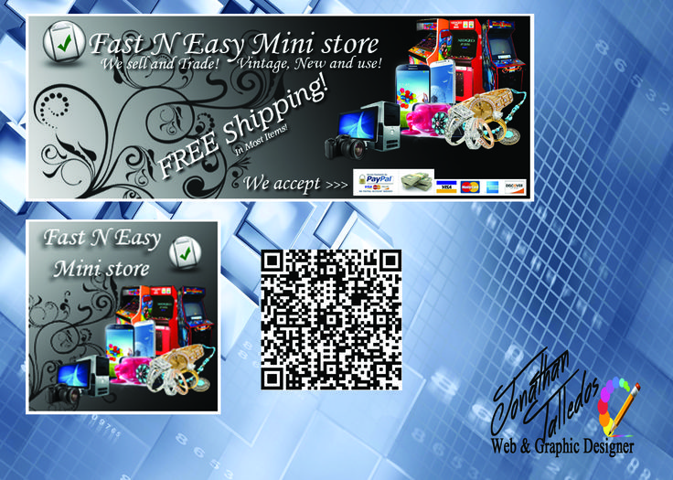 facebook banner,profile picture and QR code for a mini