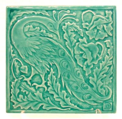 Peacock in Turquoise Glaze