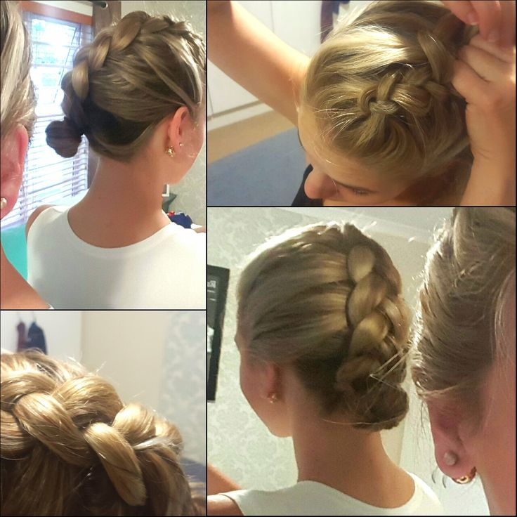 Braided updo, tutorial for a long bob (LOB) HUIDRIE MARAIS