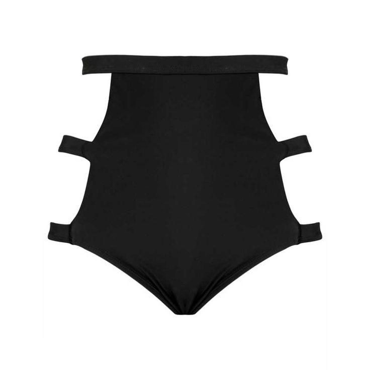 Tao bikini zwembroek met straps zwart - Gothic Occult