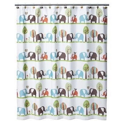 Circo Elephant Shower Curtain Baby Elephant Nursery Pinterest