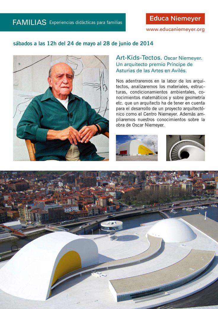 Art-Kids-Tectos. Oscar Niemeyer. Un arquitecto premio Príncipe de Asturias de las Artes en Avilés. Recorridos para familias en el Centro Niemeyer.