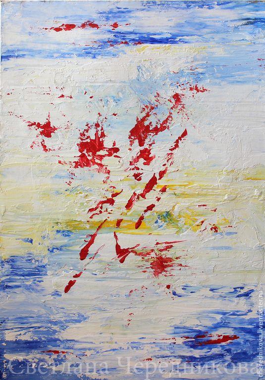 Абстракция - разноцветный,абстракция,акрил,картон,акриловая живопись,акрил