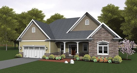Ranch House Plan with 1824 Square Feet and 3 Bedrooms from Dream Home Source | House Plan Code DHSW076943
