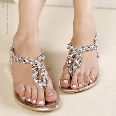 Crystal Sandals Silver From Urbanpuf