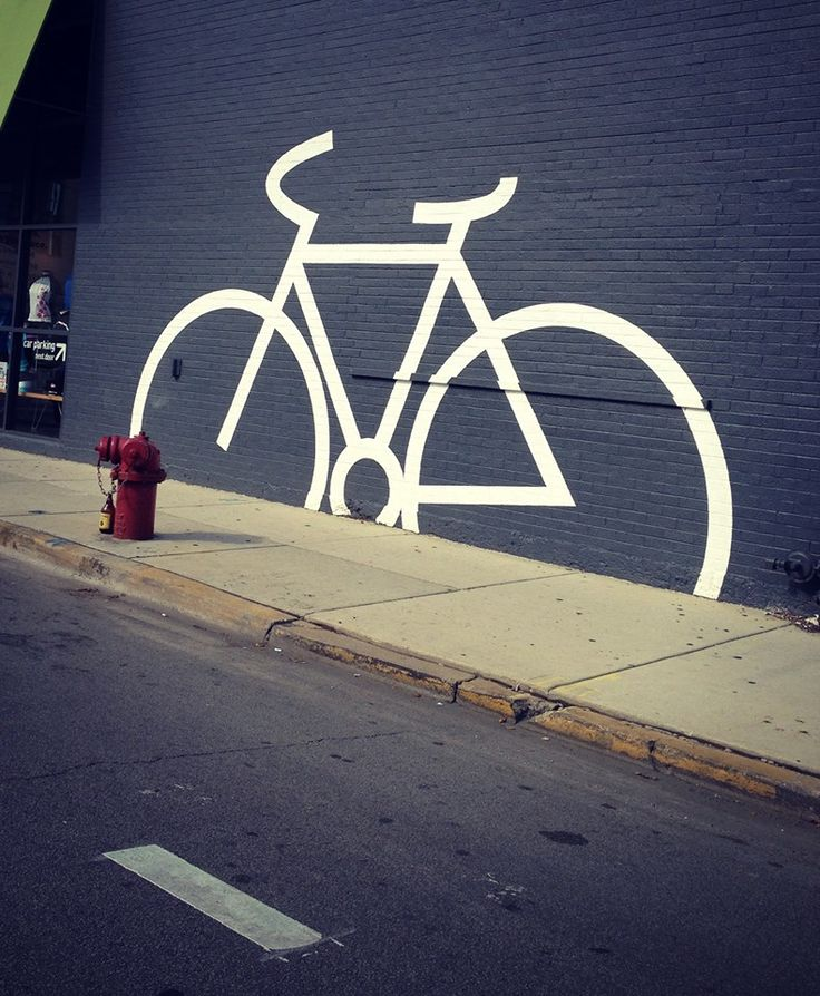 """Would people in Little Rock like to see something like this? """"Chicago bike art"""" #bikeart"""