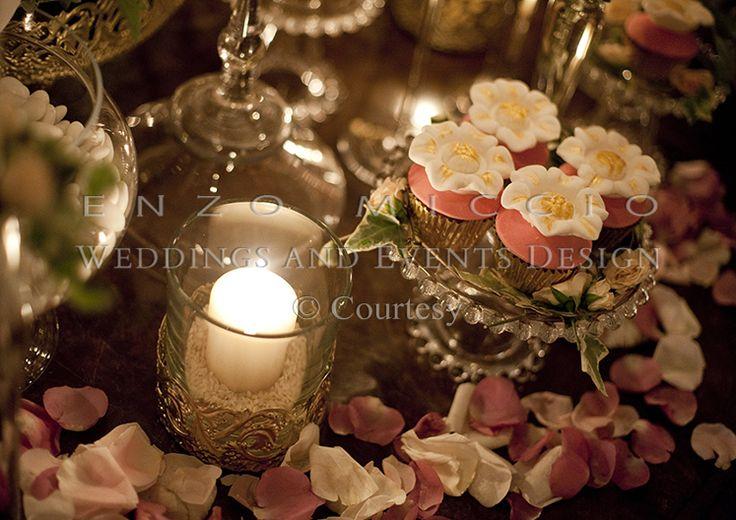Summer Wedding in Rome #wedding #rome #weddingplanner #enzomiccio #cupcakes #candle #decoration