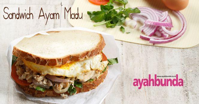 Sandwich Ayam Madu :: Chicken with Honey Sauce Sandwich :: Klik link di atas untuk mengetahui resep sandwich ayam madu