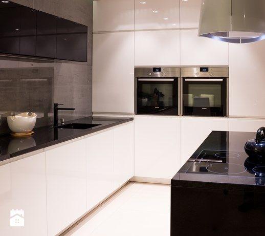 Wnętrza w Tychach - Średnia kuchnia dwurzędowa w aneksie, styl nowoczesny - zdjęcie od Architekt Adam Wawoczny
