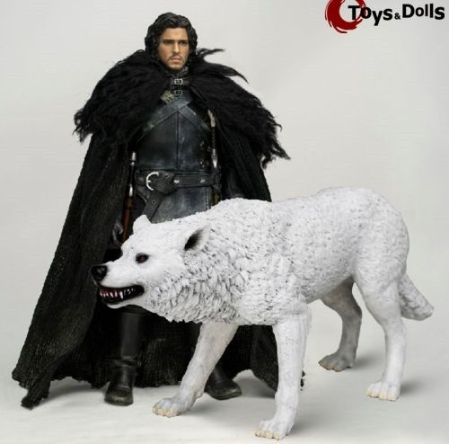 379.99$  Buy now - http://alijen.worldwells.pw/go.php?t=32710435856 - THREEZERO 1/6 Scale GAME OF THRONES Jon Snow Deluxe Action Figure Wolf Model Toy Doll Gifts 379.99$