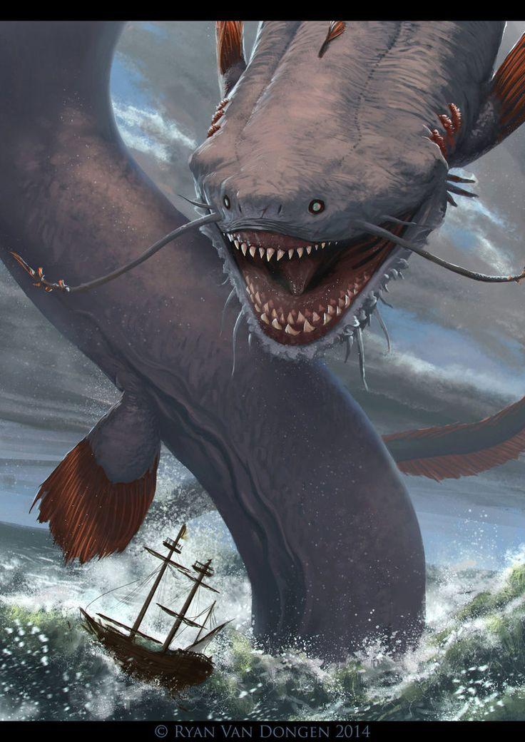 Leviatan   Criatura marina que atormentan a los marineros y cidudades  sercanas al mar, su fuerza e inteligencia son de lo mas alto es el nieto del dios de los mares Peligro algunos pueden volar 13