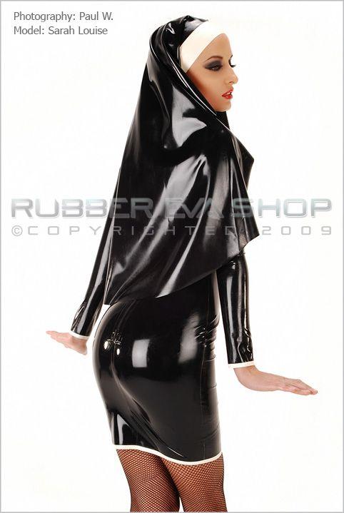 Sexy Rubber Nun Outfit Rubber Uniforms Rubber Eva Shop