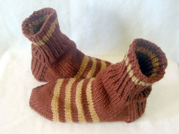 Men Hand Knitted Rust and Gold Sock by Everlastingcraftycre, $20.00
