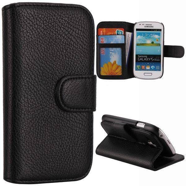 Bookcase hoesje zwart voor de Samsung Galaxy S3 mini
