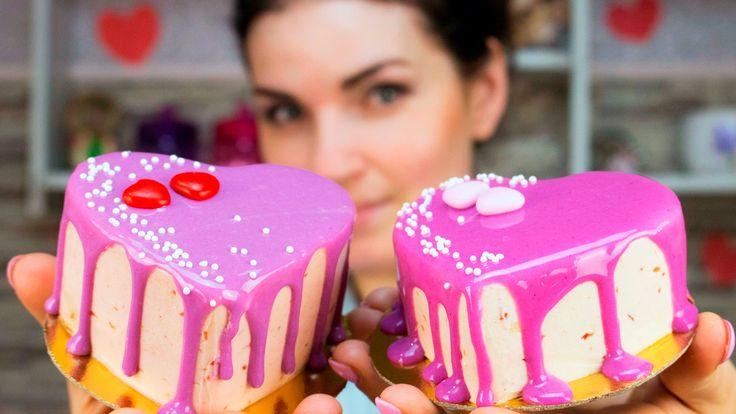 Мини торт пирожное ко дню святого Валентина / Mini Cake cupcake Valentin...