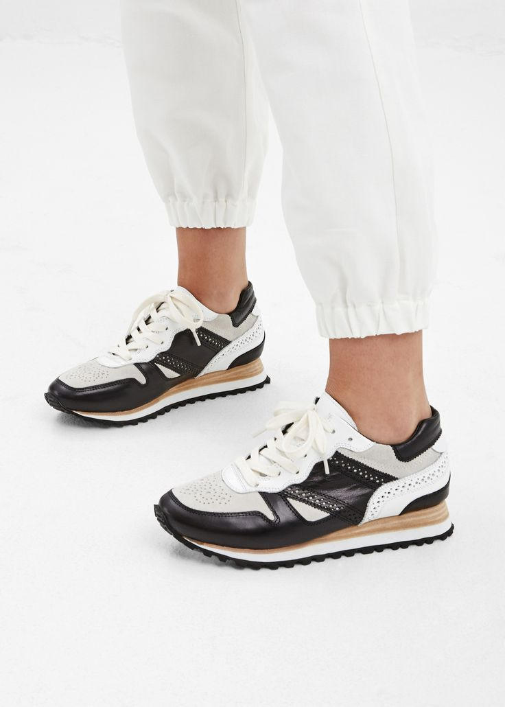 Y's by Yohji Yamamoto Medallion Sneaker in White #totokaelo #yohjiyamamoto # sneakers #shoes