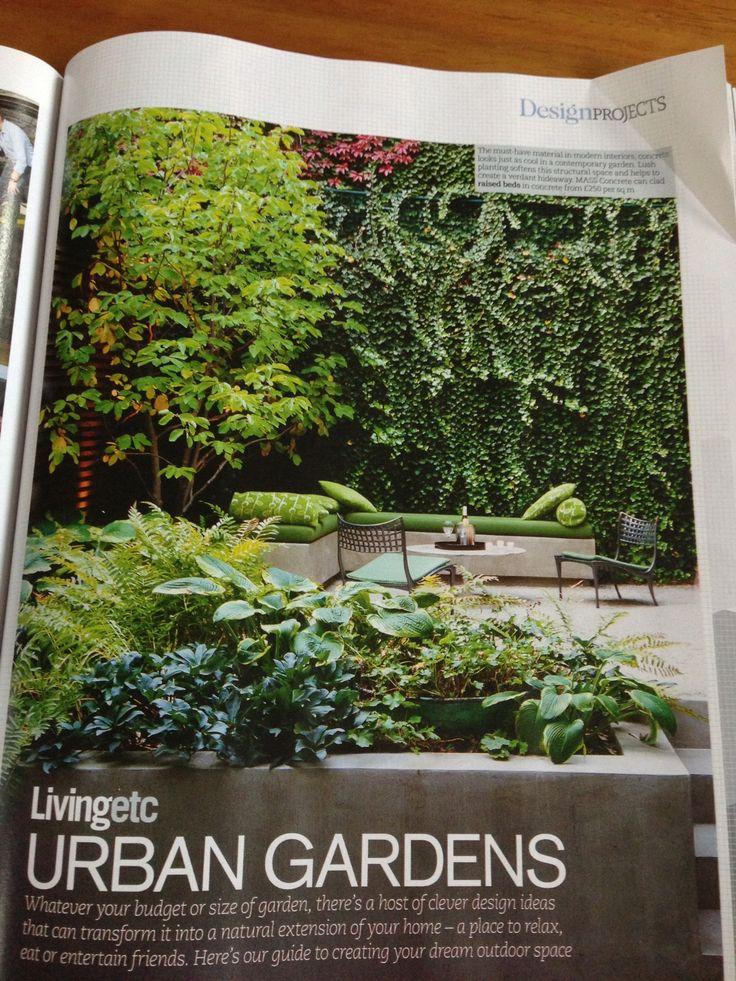 Gorgeous walled garden, love a vertical green space