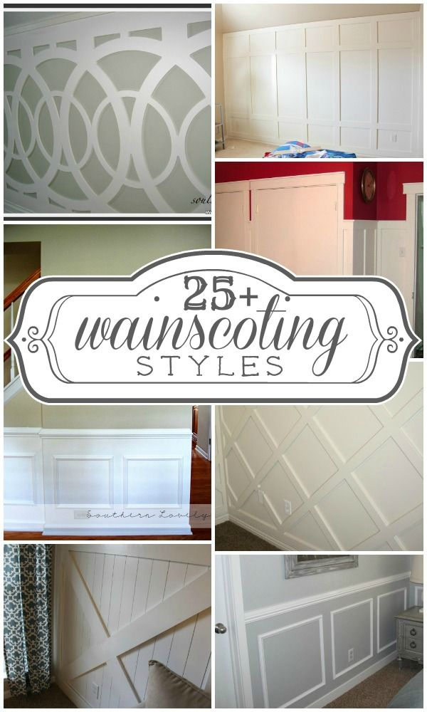 25+ wainscoting ideas and styles...love the circles ...stairs?...also an option for the windows...master bedroom?