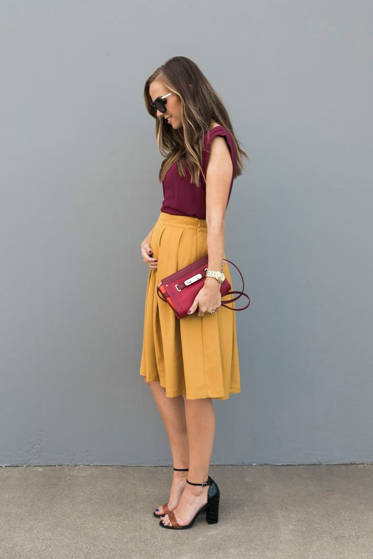 Merrick's Art // Style + Sewing for the Everyday Girl: BERRY AND MUSTARD COLOR BLOCKING