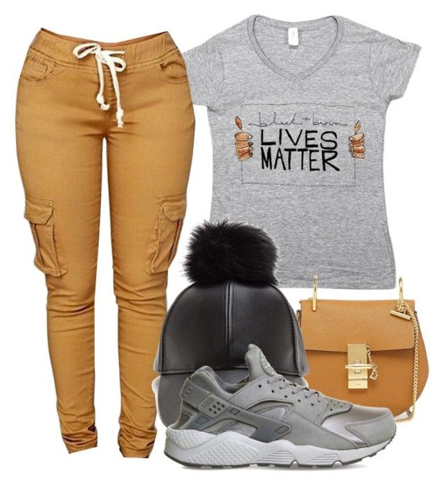 Melanin lives matter by beautiful-image on Polyvore featuring polyvore, fashion, style, NIKE, Chloé and clothing