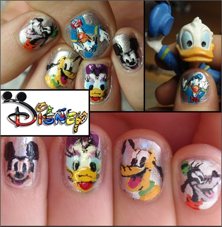 disney nails by ~JawsOfKita-LoveHim on deviantART