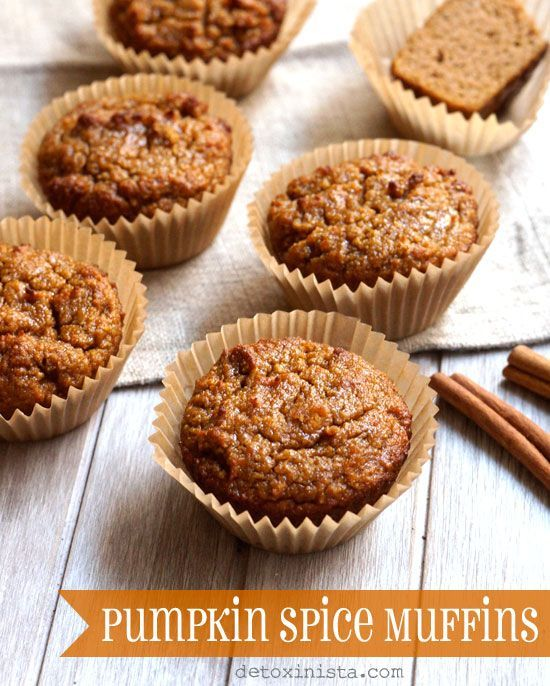 Pumpkin Spice Muffins! Made with coconut flour, these oil-free muffins ...