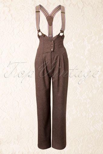 40s Brown and Beige Miss Fancy Pants – #20s #40s #…