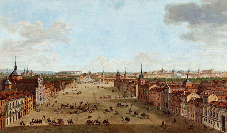 ANTONIO JOLI. Vista de la calle de Alcalá, Madrid. 1754. Thyssen-Bornemisza.