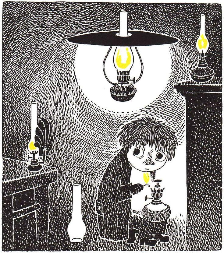 Moomins - Snufkin by Lamplight