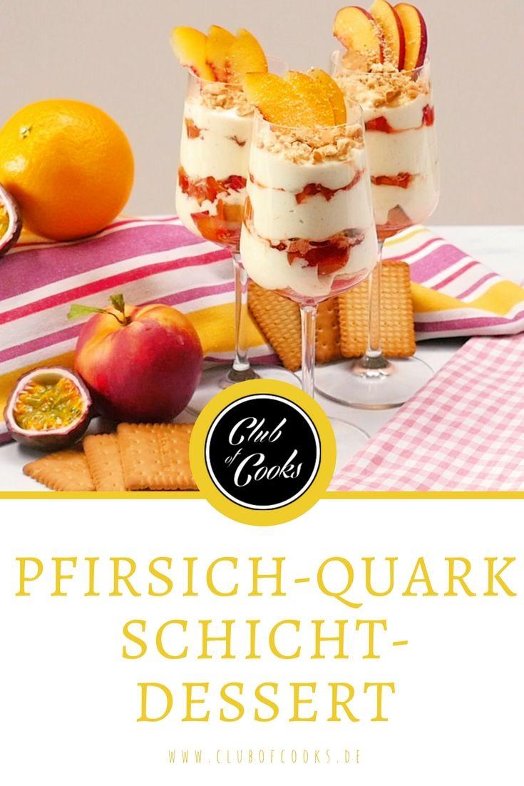 Pfirsich-Quark-Schichtdessert